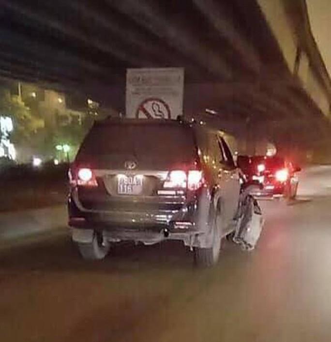 Xe biển xanh 80A gây tai nạn của Cục CSĐT tội phạm về tham nhũng, kinh tế, buôn lậu - Ảnh 1.