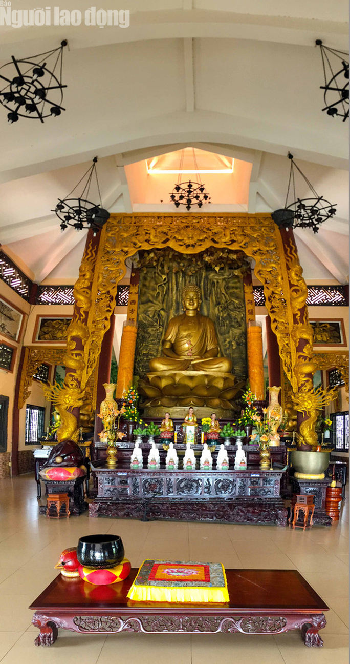 Chiêm ngưỡng ngôi chùa vùng biên giới có tượng Phật cao nhất miền Tây - Ảnh 14.