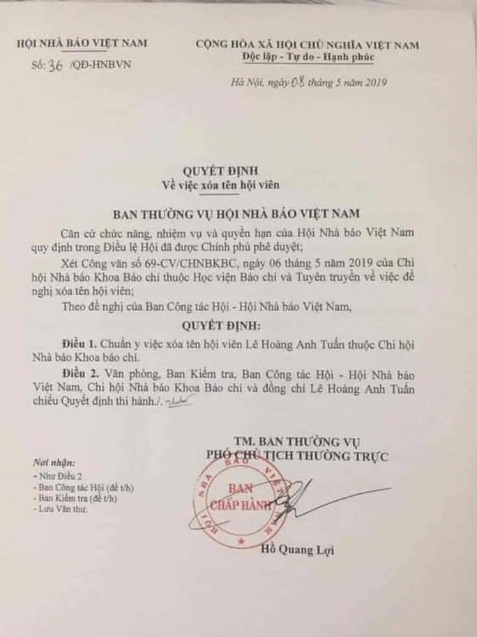 Đã xóa tên nhà báo quốc tế Lê Hoàng Anh Tuấn khỏi Hội Nhà báo Việt Nam - Ảnh 1.