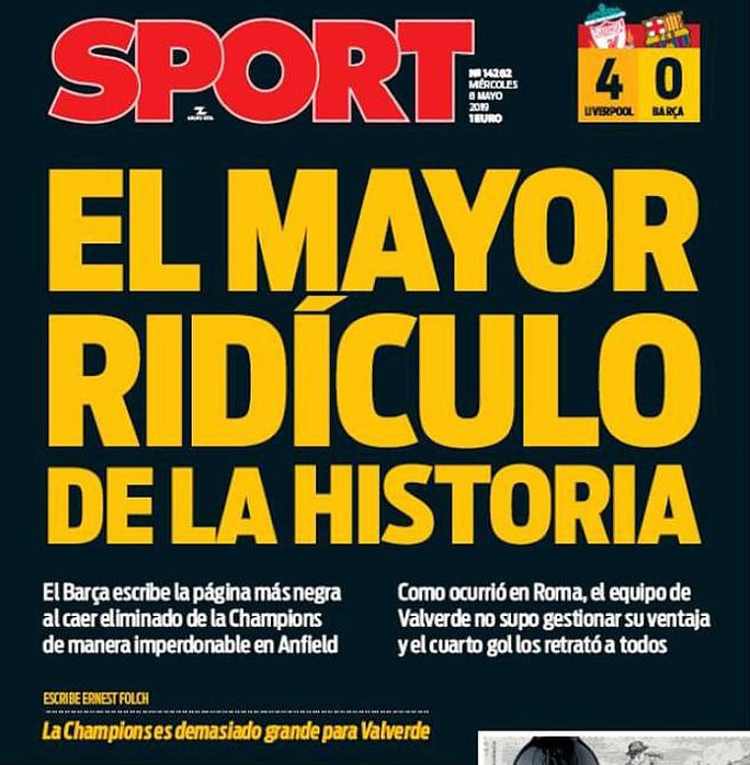 Barcelona bị loại tủi hổ trước Liverpool: Lỗi không chỉ của HLV Valverde - Ảnh 1.