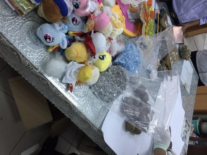 Chuyển 7,4 kg ma túy từ châu Âu về Việt Nam qua... quà biếu gấu bông - Ảnh 1.