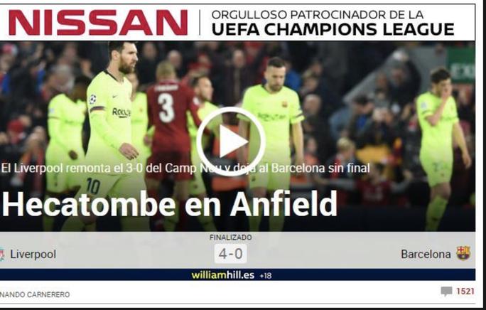 Loại Barcelona, Liverpool gây choáng truyền thông thế giới - Ảnh 6.