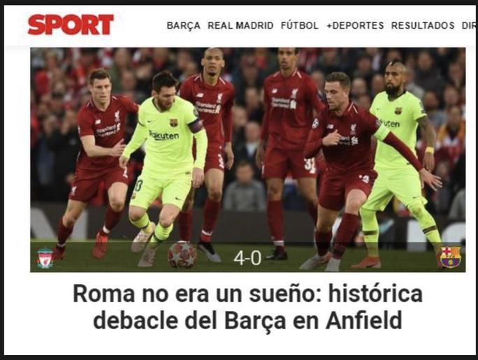 Loại Barcelona, Liverpool gây choáng truyền thông thế giới - Ảnh 7.