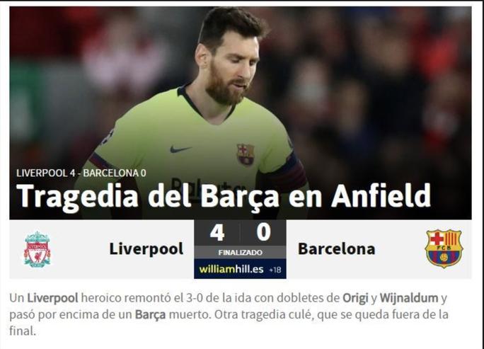 Loại Barcelona, Liverpool gây choáng truyền thông thế giới - Ảnh 5.