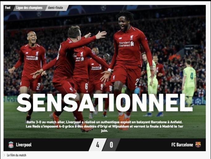 Loại Barcelona, Liverpool gây choáng truyền thông thế giới - Ảnh 10.