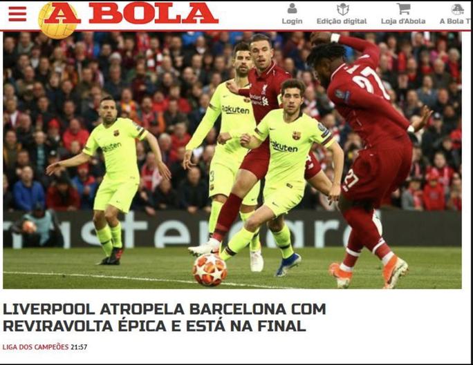 Loại Barcelona, Liverpool gây choáng truyền thông thế giới - Ảnh 11.