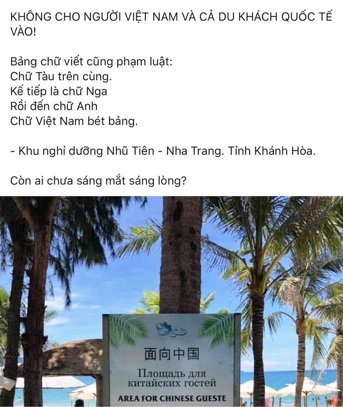 Sở Du lịch Khánh Hòa nói gì về việc đặt bảng Khu vực dành riêng cho khách Trung Quốc? - Ảnh 2.