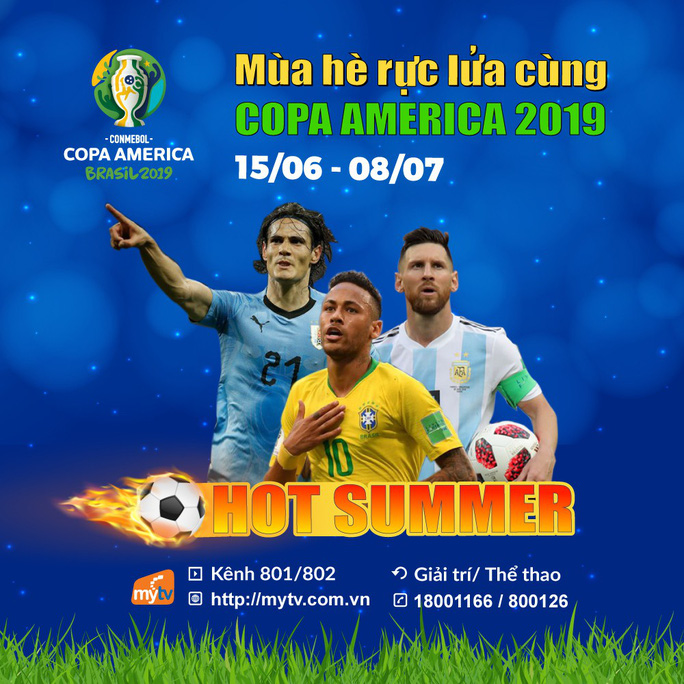 Truyền hình MyTV chính thức sở hữu bản quyền giải Copa America 2019 - Ảnh 3.