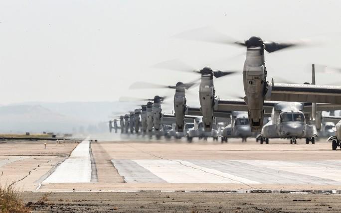 """Trực thăng quân sự Mỹ phô diễn sức mạnh trong tập trận """"Voi đi bộ"""" - Ảnh 5."""