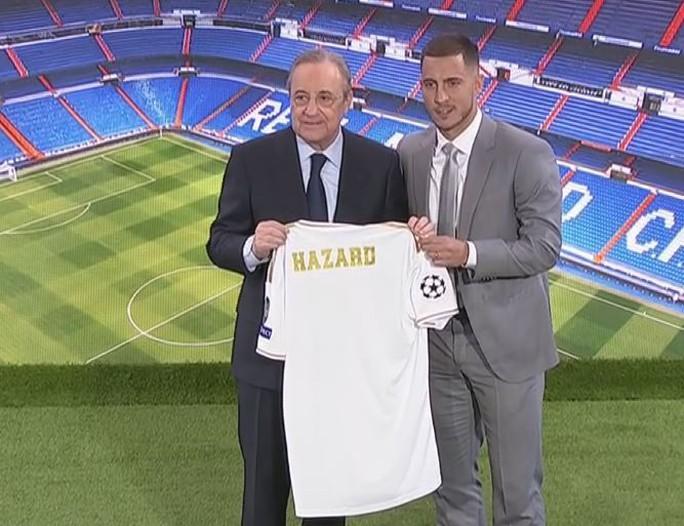 Bom tấn Hazard chào sân, 50.000 CĐV Real Madrid lên cơn sốt  - Ảnh 4.