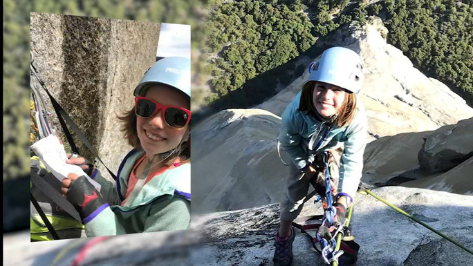 Bé gái 10 tuổi chinh phục núi đá dựng đứng - Ảnh 1.
