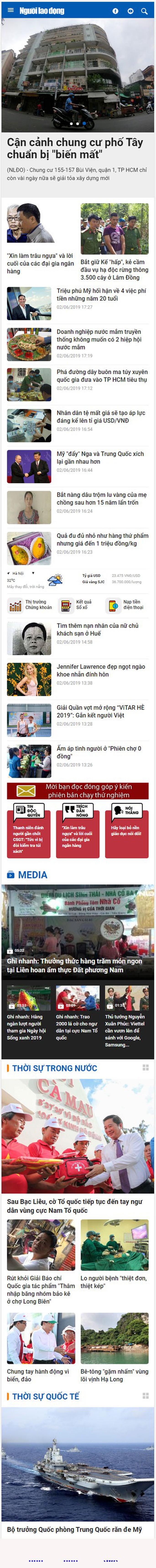 Mời bạn đọc góp ý giao diện mới báo Người Lao Động điện tử - Ảnh 6.
