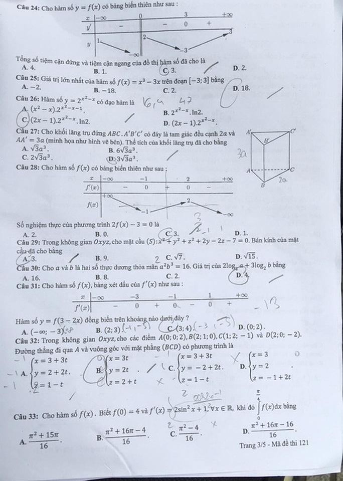 Thi THPT quốc gia 2019: Thí sinh thở phào về đề thi toán - Ảnh 5.