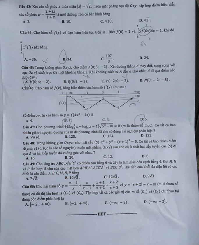 Thi THPT quốc gia 2019: Thí sinh thở phào về đề thi toán - Ảnh 7.