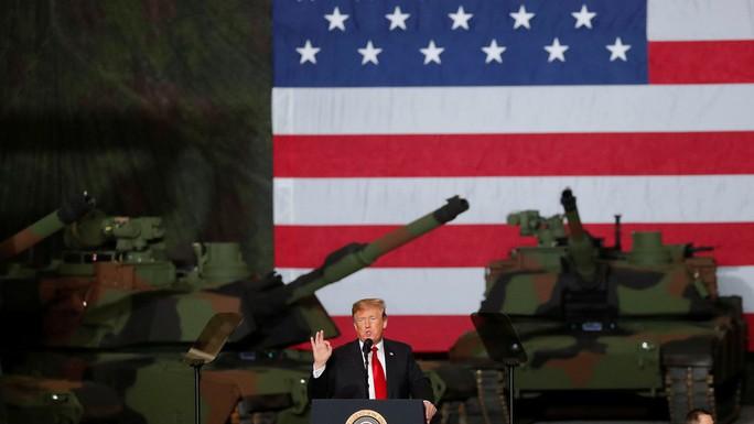 """Tổng thống Donald Trump dọa """"xóa sổ"""" Iran bằng lực lượng vĩ đại và áp đảo - Ảnh 1."""
