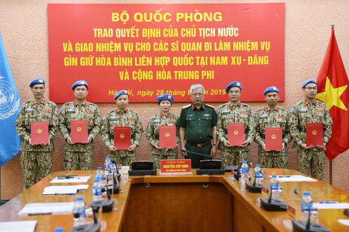 Thêm 7 sĩ quan Việt Nam đi gìn giữ hòa bình Liên Hiệp Quốc - Ảnh 1.