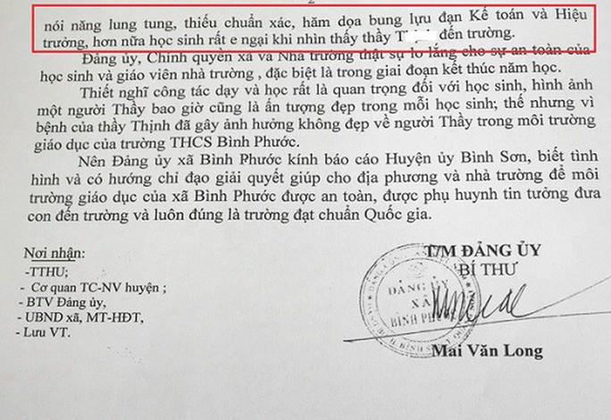 Thầy giáo dọa dùng lựu đạn xử hiệu trưởng - Ảnh 2.