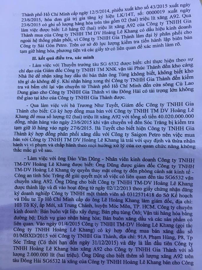 """Lật lại """"phi vụ"""" mua bán 2 triệu lít xăng có liên quan đến đại gia Trịnh Sướng - Ảnh 3."""
