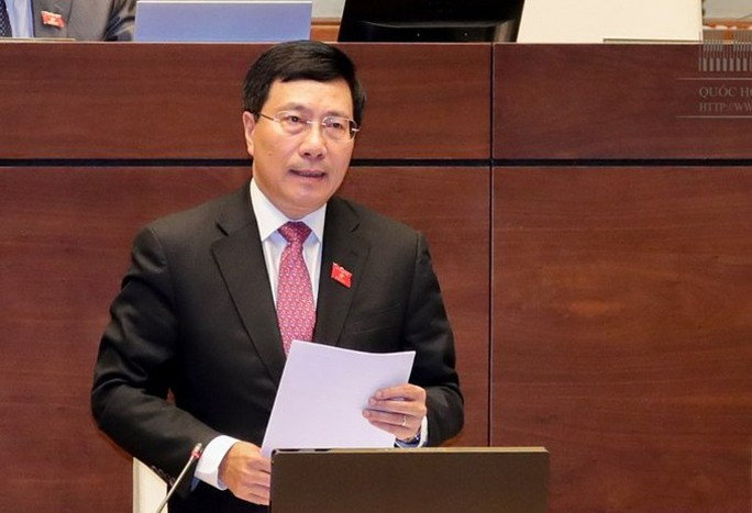 Sáng nay Phó Thủ tướng Phạm Bình Minh lần đầu trả lời chất vấn Quốc hội - Ảnh 1.