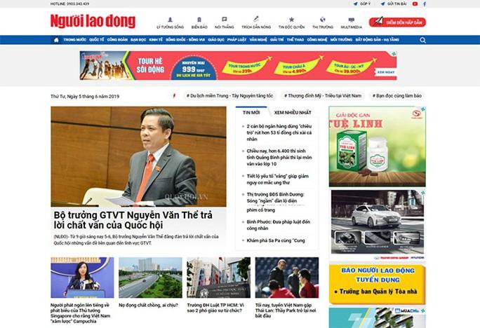 Mời bạn đọc góp ý giao diện mới báo Người Lao Động điện tử - Ảnh 1.