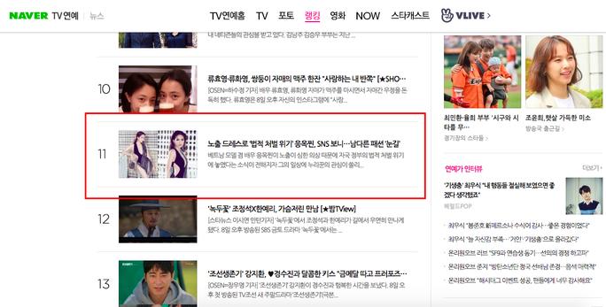 Khán giả Hàn thấy xấu hổ với chiếc váy không che đậy gì cả của Ngọc Trinh - Ảnh 3.