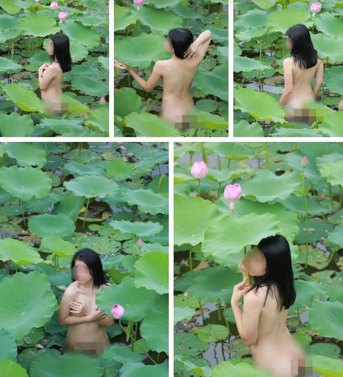 Cô gái chụp hình khỏa thân trong hồ sen là diễn viên - Ảnh 1.