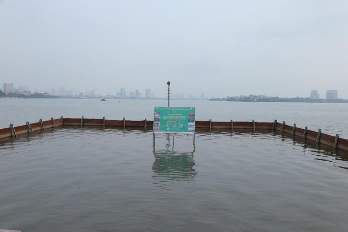 Nước hồ Tây đổi màu sau thí điểm công nghệ Nhật Bản - Ảnh 5.