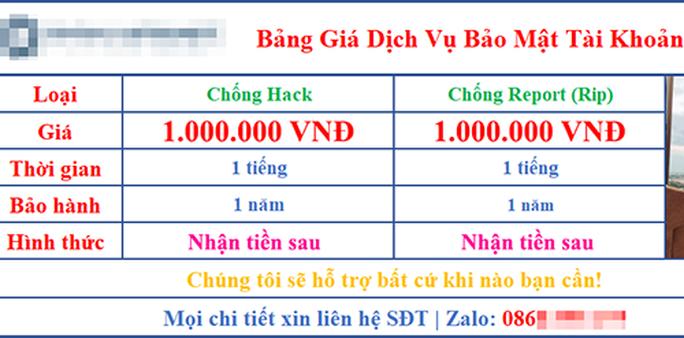 Dịch vụ chống hack tài khoản Facebook giá tiền triệu - Ảnh 1.