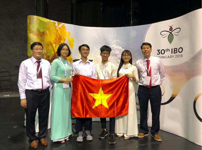 Cả 4 thí sinh Việt Nam đều đoạt giải tại Olympic Sinh học quốc tế 2019 - Ảnh 1.