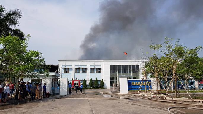 Cháy lớn tại Công ty may mặc Makalot Việt Nam - Ảnh 2.