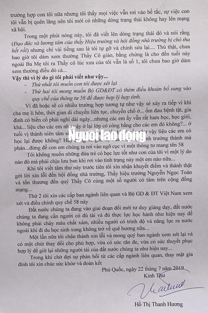 """""""Á khôi doanh nhân"""" xúc phạm hiệu trưởng ở Phú Quốc viết tâm thư gửi Bộ trưởng GD-ĐT - Ảnh 2."""