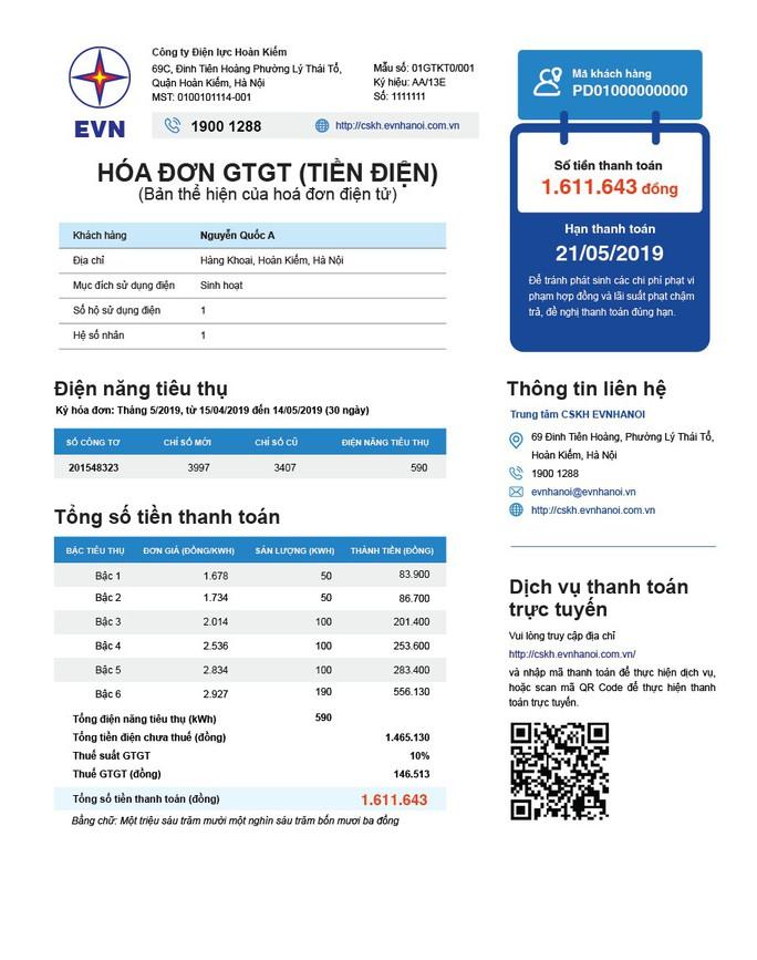 EVN công bố kết quả bình chọn hóa đơn tiền điện mới - Ảnh 1.