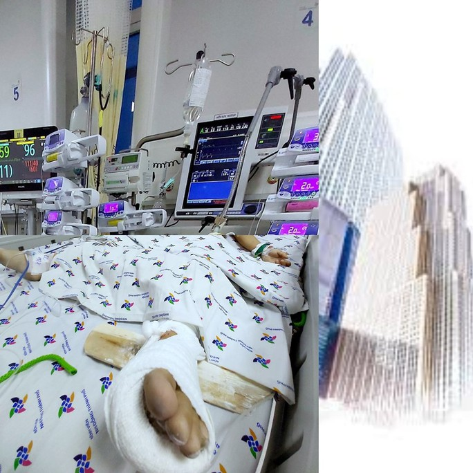 Cứu sống bé trai rơi từ tầng 12 chung cư xuống đất - Ảnh 1.