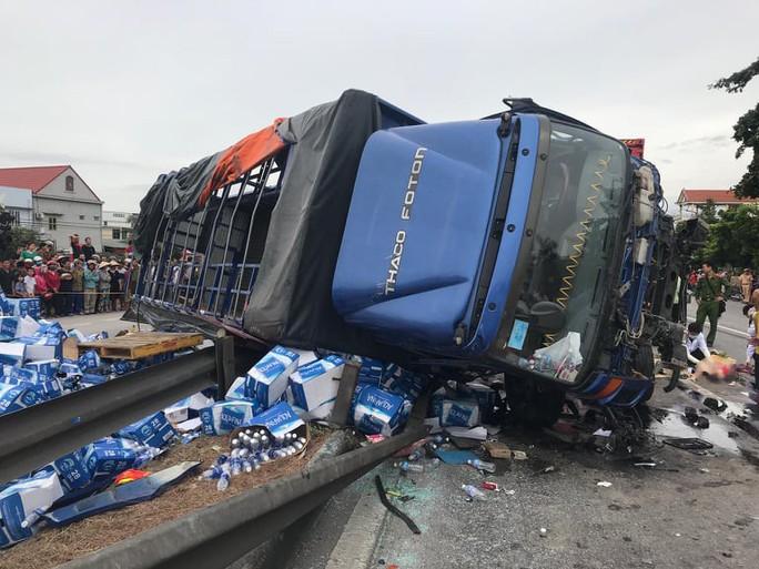 Xác định ban đầu lỗi của tài xế xe tải gây ra vụ tai nạn thảm khốc ở Hải Dương - Ảnh 1.