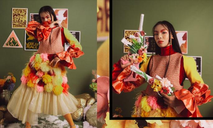 Học sinh trường chuyên Hà Nội thể hiện đẳng cấp thời trang bằng fashion show riêng - Ảnh 2.