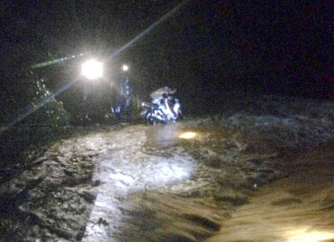 Bị nước lũ cuốn trong đêm mưa do bão số 2, người đàn ông bám vào ngọn tre cầu cứu - Ảnh 1.