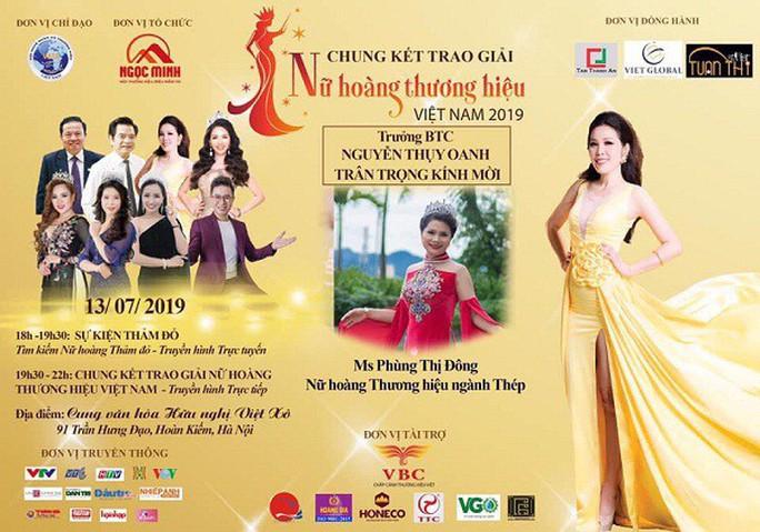 Ai cấp phép chương trình Tôn vinh nữ hoàng thương hiệu Việt Nam 2019? - Ảnh 1.
