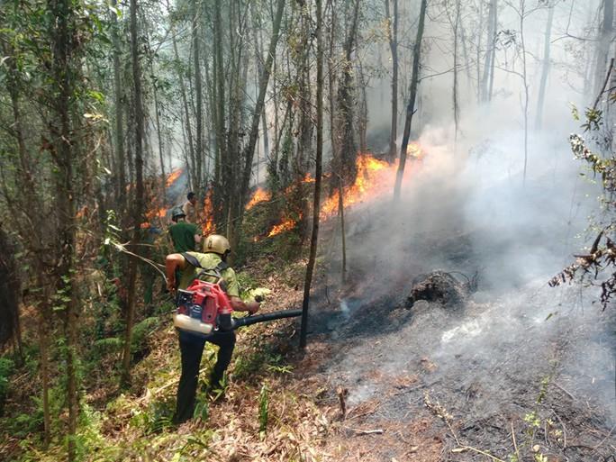 Hà Tĩnh lại xảy ra cháy rừng, hàng trăm người dập lửa dưới trời nắng nóng - Ảnh 1.