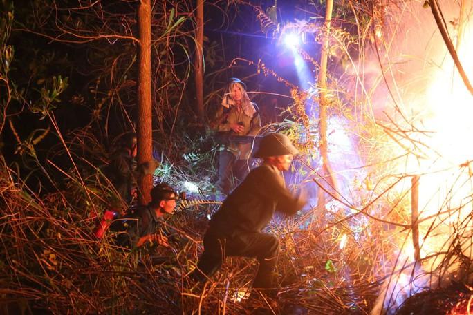 Rừng tại Hà Tĩnh cháy đỏ trời trong đêm, nhiều hộ dân phải sơ tán khẩn cấp - Ảnh 4.