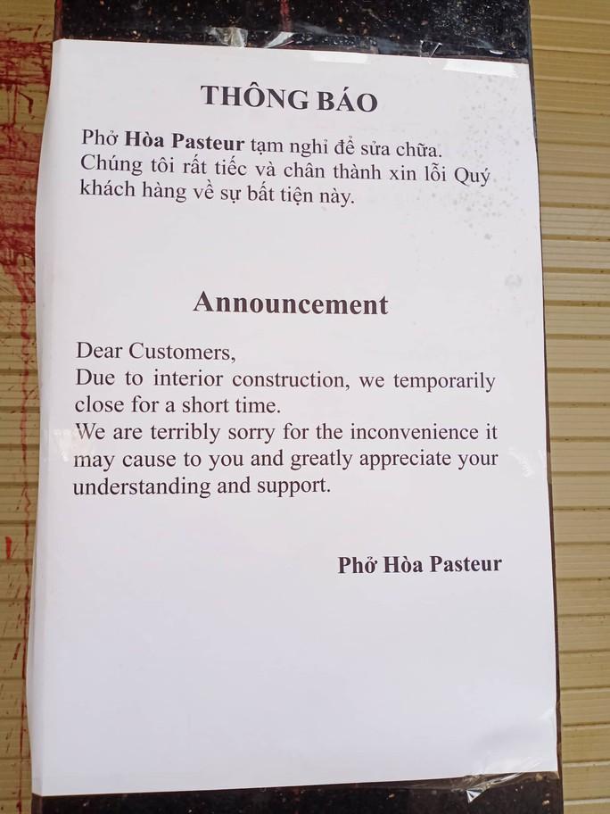 Phở Hòa Pasteur ngưng bán sau 8 lần bị giang hồ khủng bố - Ảnh 2.