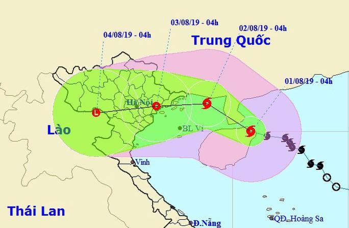 Bão số 3 mạnh thêm, giật trên cấp 12 trực chỉ vào Quảng Ninh-Hải Phòng - Ảnh 1.