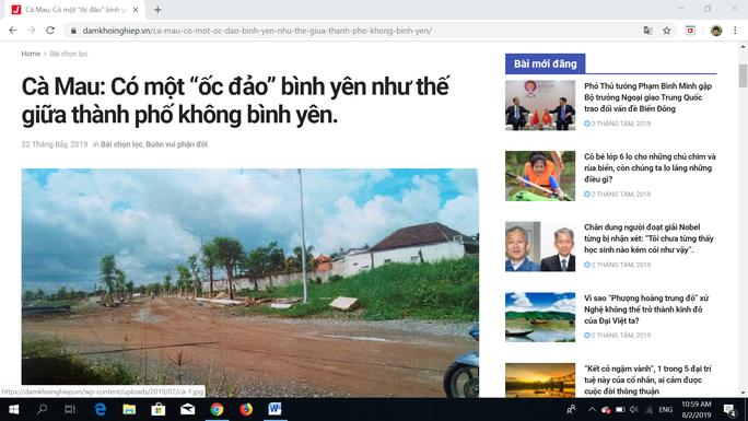 Đề nghị xử lý trang web đăng thông tin sai sự thật về Chủ tịch tỉnh Cà Mau - Ảnh 1.
