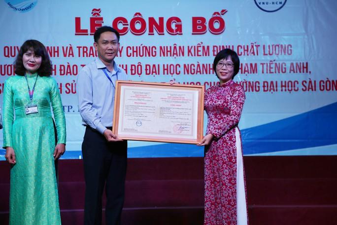Ba chương trình đào tạo của Trường ĐH Sài Gòn đạt chuẩn kiểm định - Ảnh 1.