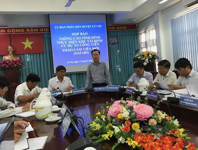 UBND huyện Củ Chi, TP HCM: Sớm xây dựng khu tái định cư dự án Safari - Ảnh 1.