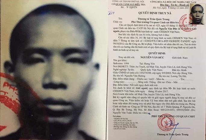 Công an TP Hà Nội kêu gọi Nguyễn Văn Đức ra đầu thú để hưởng khoan hồng - Ảnh 1.