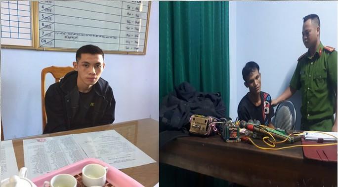 Nửa đêm mang súng điện đi trộm chó, 2 thanh niên bị bắt giữ - Ảnh 1.