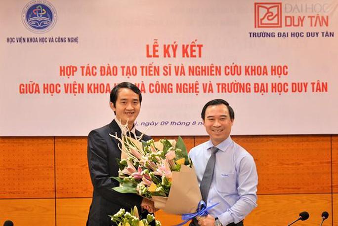 ĐH Duy Tân hợp tác với Học viện Khoa học và Công nghệ đào tạo tiến sĩ - Ảnh 2.