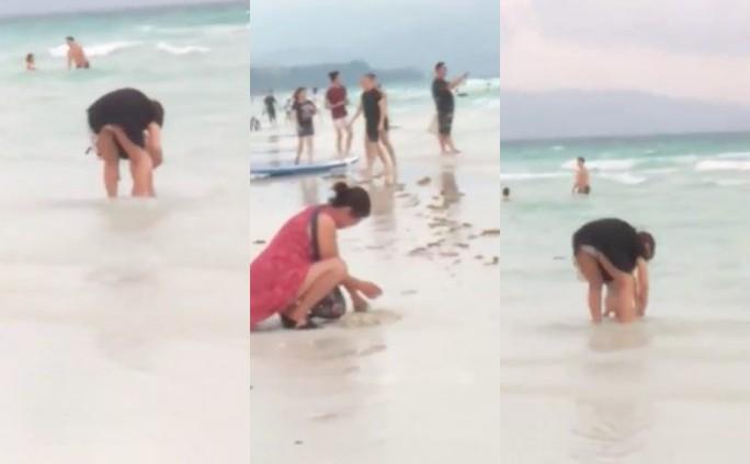 Khách Trung Quốc chôn bỉm trên cát, Philippines đóng cửa bãi biển  - Ảnh 3.