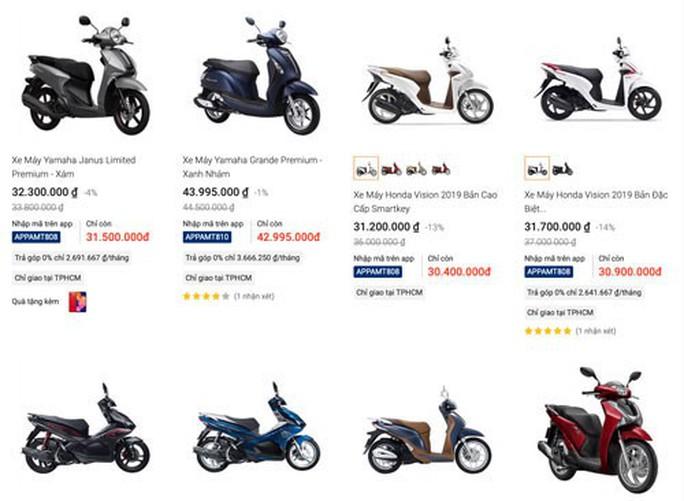 Nở rộ bán xe máy trên mạng - Ảnh 1.