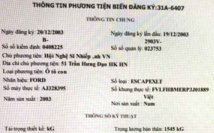 Tài xế đi xe biển xanh lăng mạ, tát CSGT: Xe biển xanh của Hội nhiếp ảnh Việt Nam đã thanh lý? - Ảnh 3.
